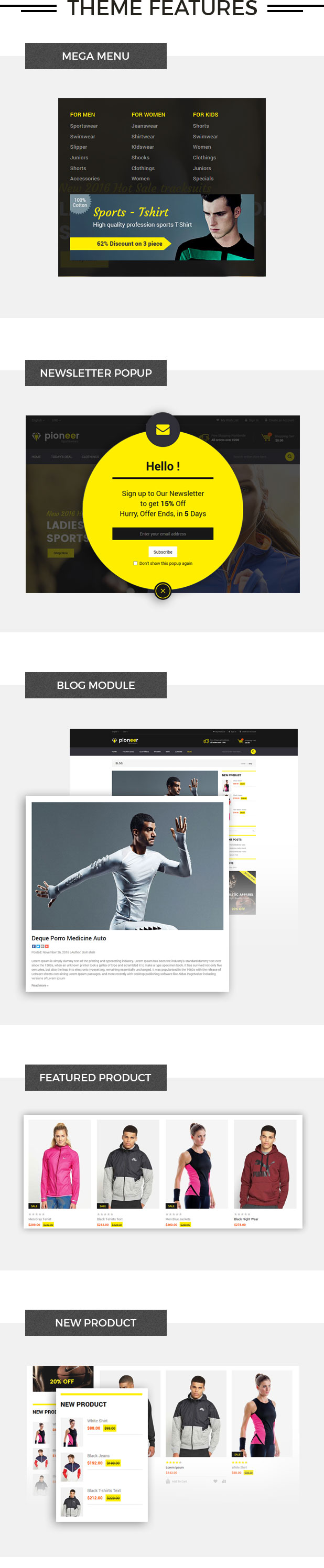 Pioneer - Multipurpose Responsive Magento2 Theme | Fashion Sportswear Food & Jewellery - 2