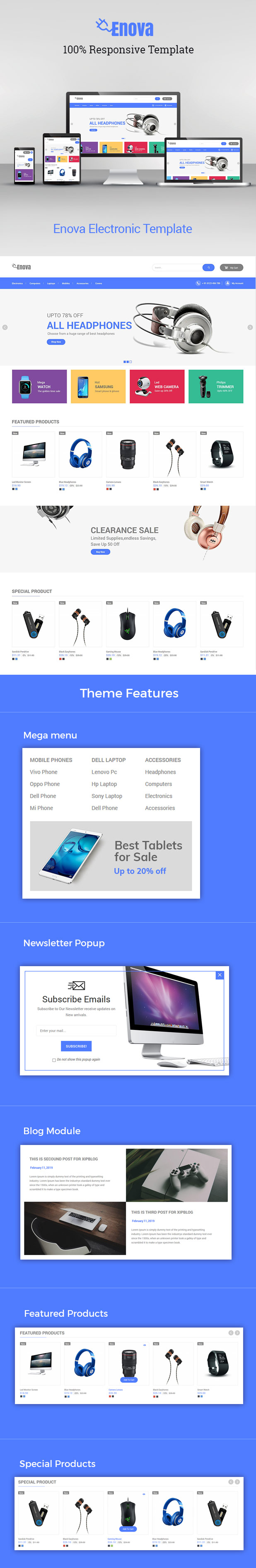 Enova - Electronics Mobile Digital Prestahsop 1.7 Theme - 1